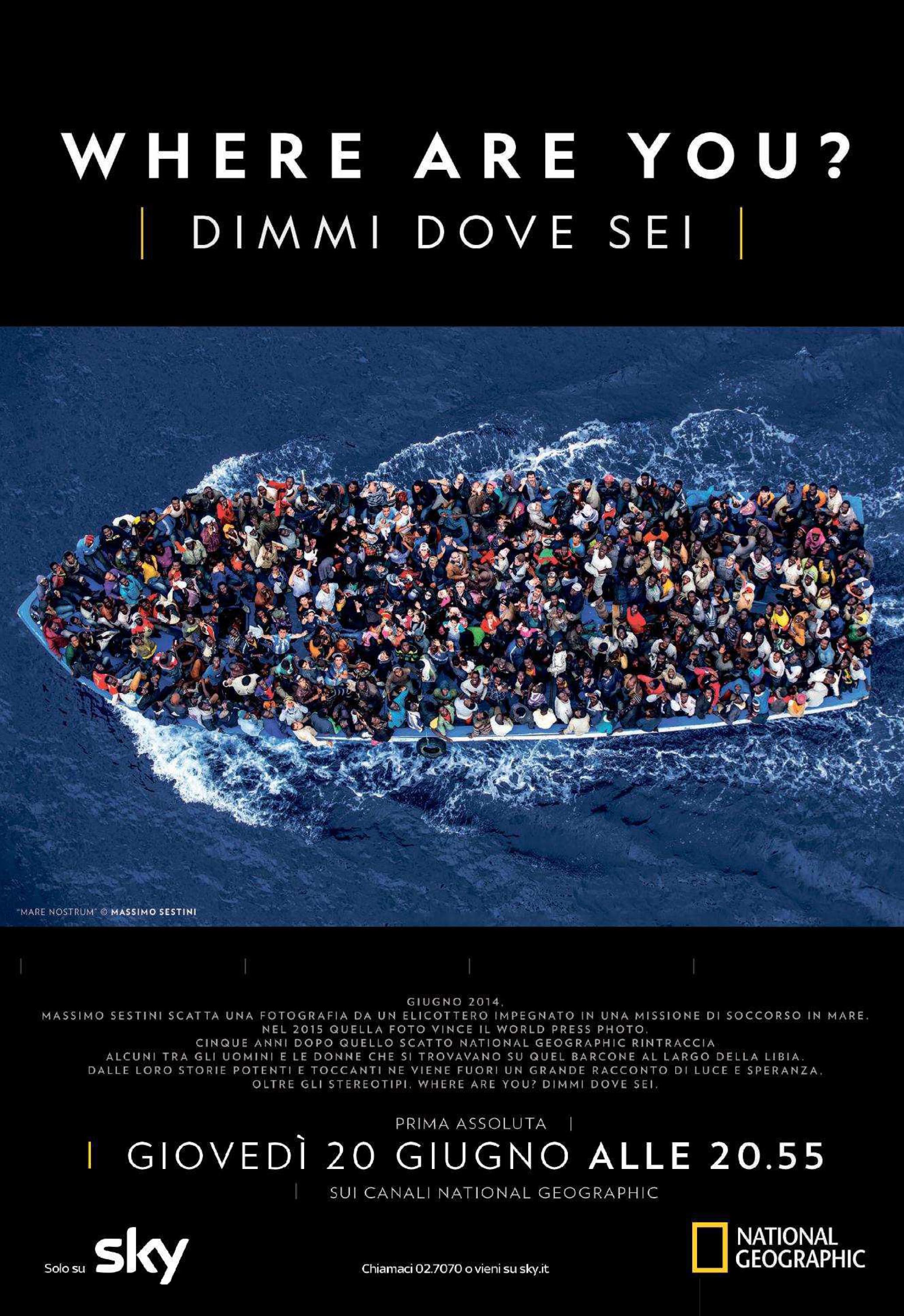 "Prima TV ""Where Are You- Dimmi Dove Sei"" su National Geographic Channel"